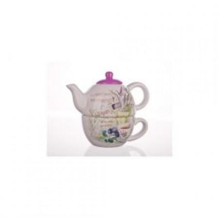 Čajnik s skodelico sivka
