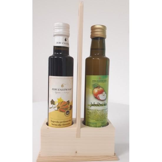 Darilni komplet z lesenim stojalom