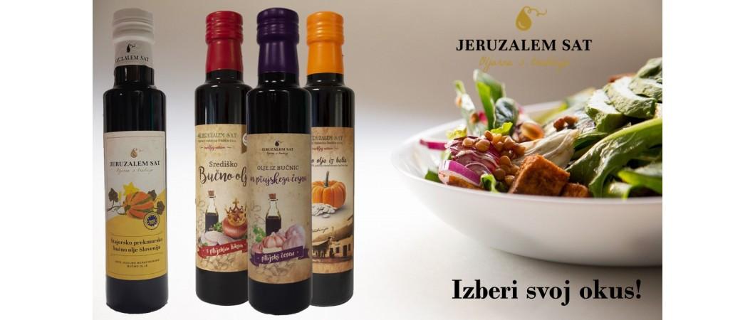 Kulinarični užitki z bučnimi olji oljarne Jeruzalem SAT