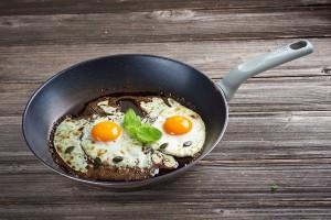 Pečeno jajce na bučnem olju